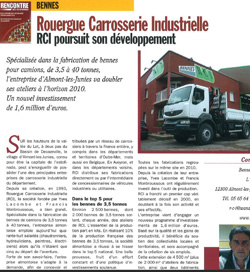 article bennes RCI-magazine rencontre